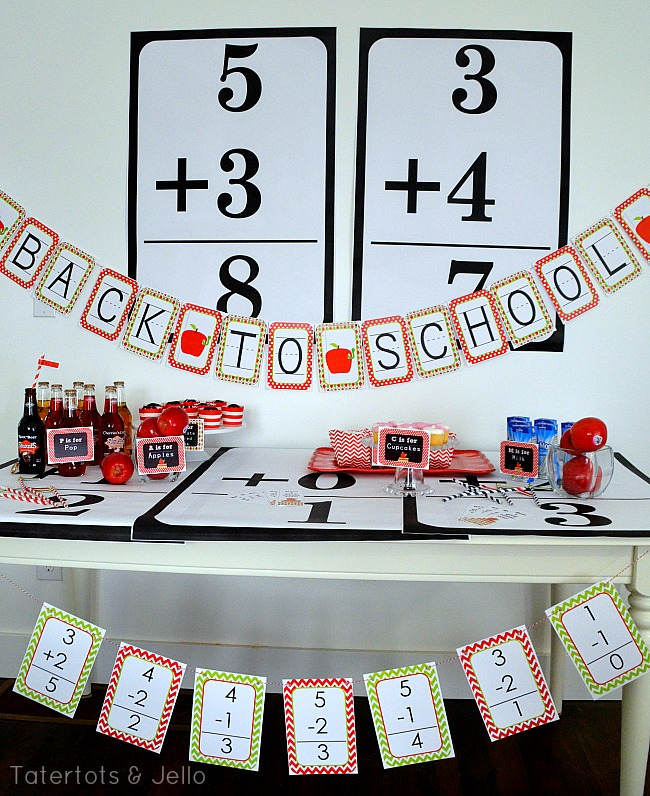back to school party printables