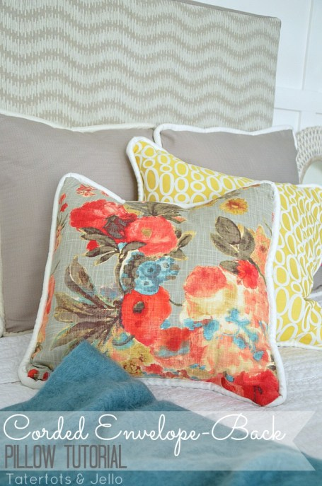 corded envelope back pillow tutorial DIY