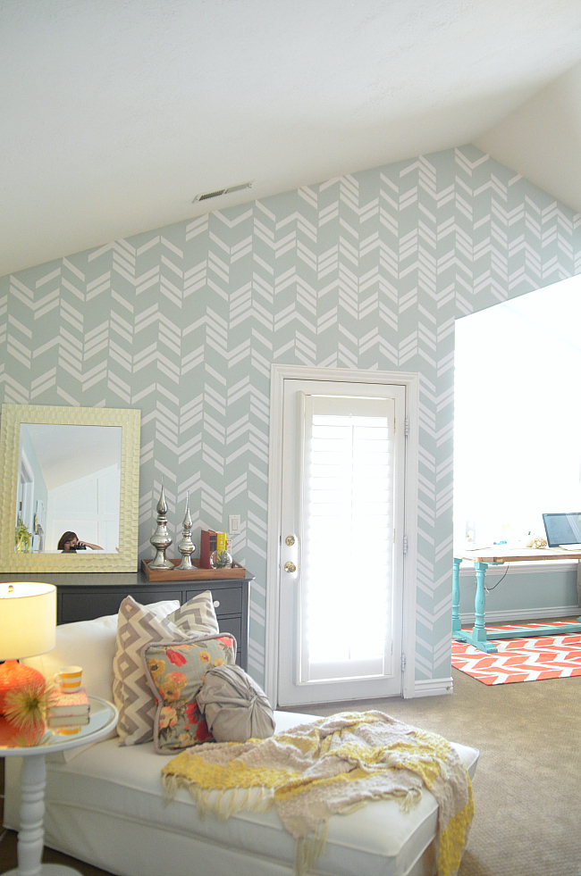 herringbone wall vinyl decals