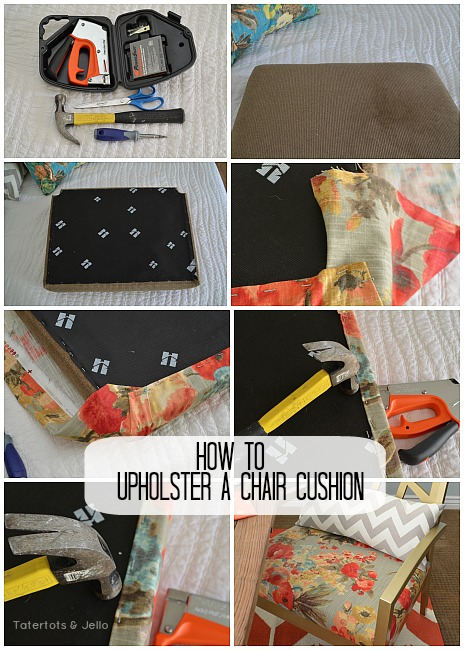 how to upholster a chair cushion