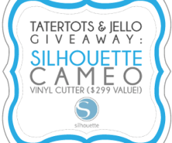 Giveaway: Silhouette CAMEO Vinyl Cutter ($299 value)!!