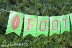 Free Printable Football Banner!