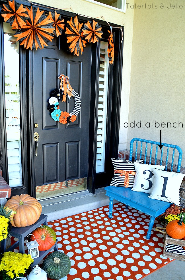 add a bench to your porch