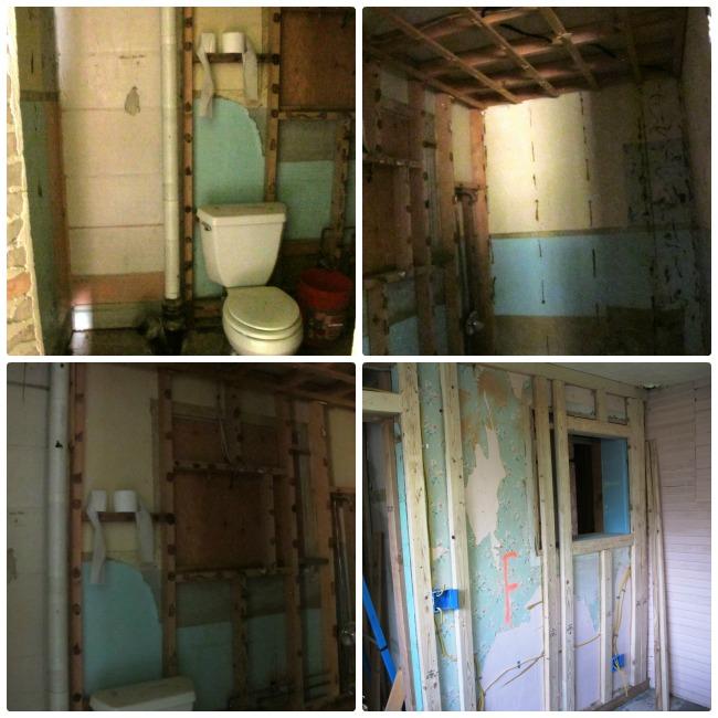 bathroom tearout in progress