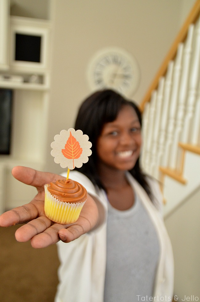 fall free cupcake toppers at tatertots and jello