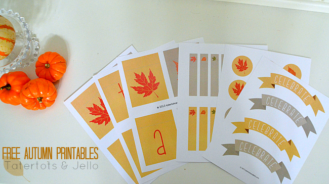 free autumn printables at tatertots and jello