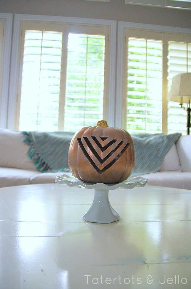 tribal chevron pumpkin at tatertots and jello