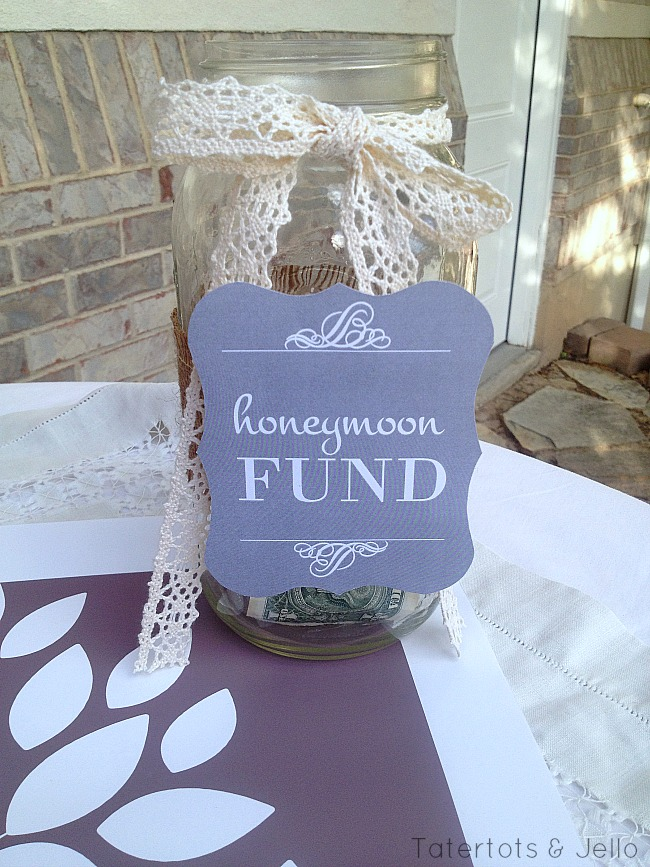 honeymoon fund free printable wedding