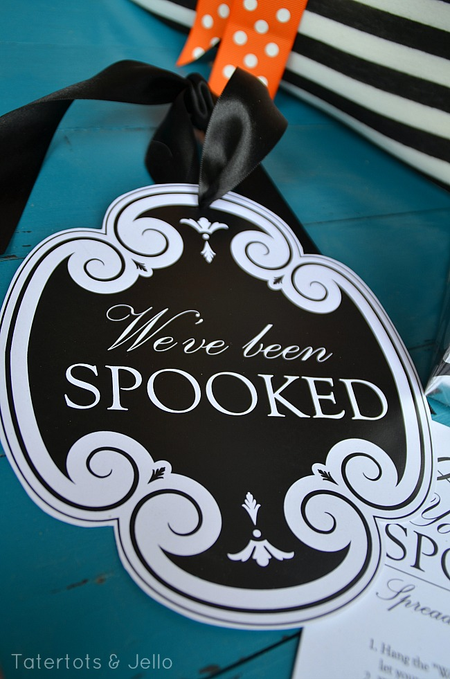 we've been spooked free door hanger printable