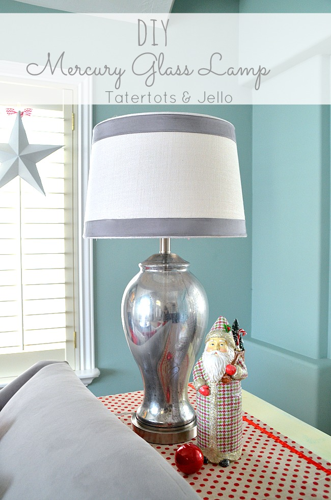 diy mercury glass lamp with krylon looking glass spray paint