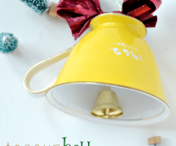 Happy Holidays: DIY Teacup Bell Ornament