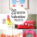 20 modern valentine projects