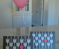 heart and arrow notecards