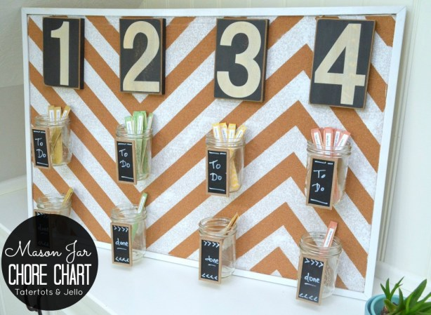 mason jar chore chart tutorial at tatertots and jello
