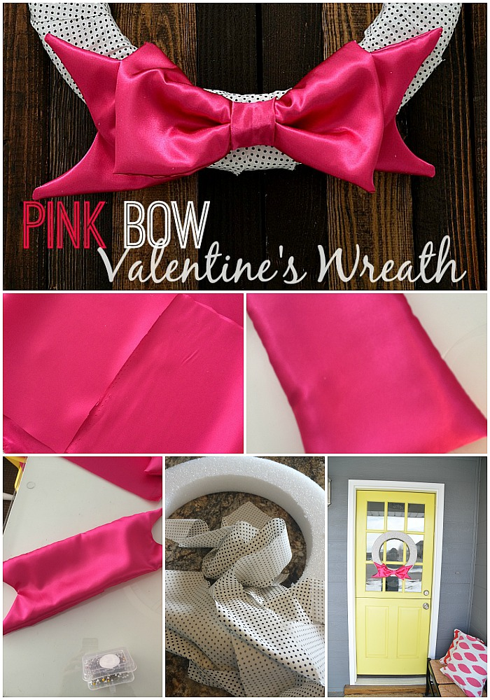 pink bow valentine bow wreath how to at tatertots and jello