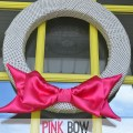pink satin bow valentine wreath