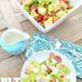 blt salad with omeamde ranch dressing