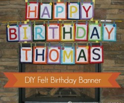falt birthday banner tutorial at tatertots and jello