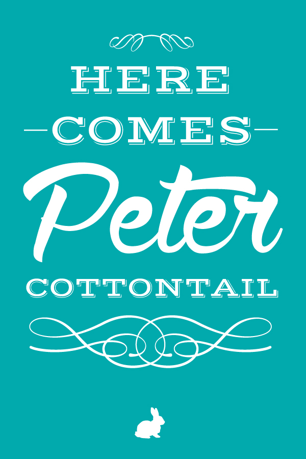 Here Come's Peter Cottontail via Tater Tots and Jello