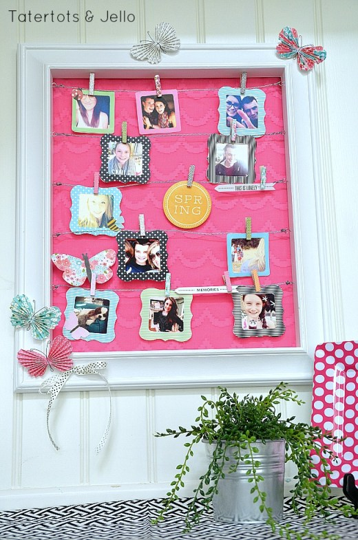 spring instagram display and free instagram frame printables