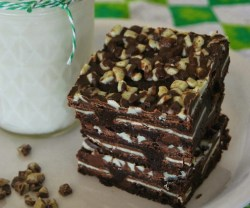 Double Mint Layered Brownies