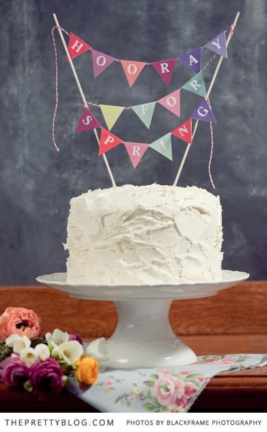 spring cake topper printables