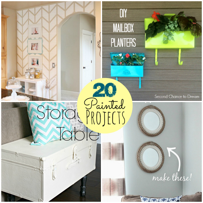 20 painted projects at tatertots and jello