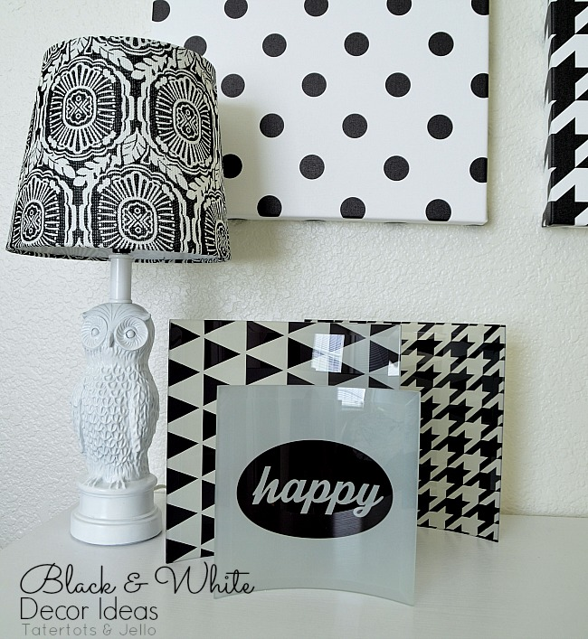 black and white decor ideas and free graphic printables