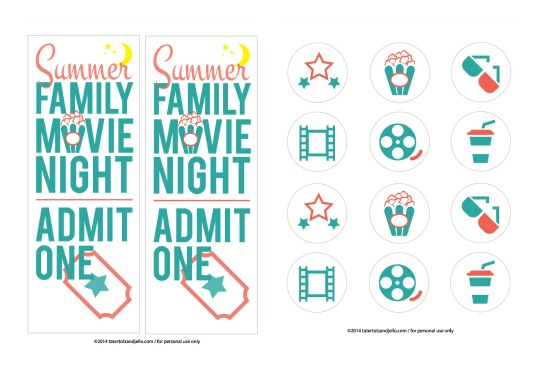 family.movie.night.printables