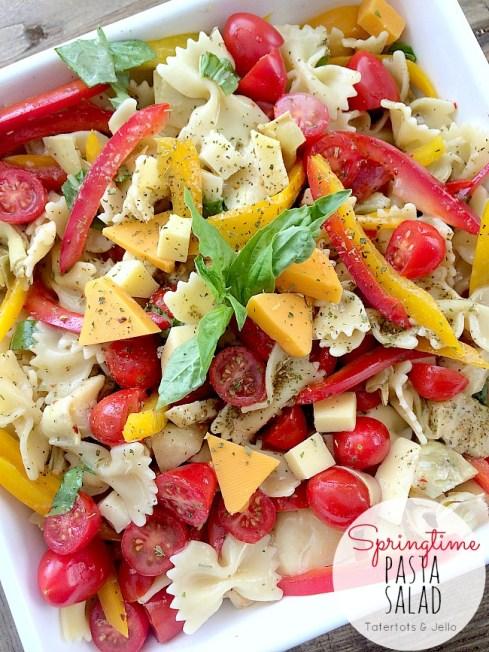 springtime pasta salad at tatertots and jelo
