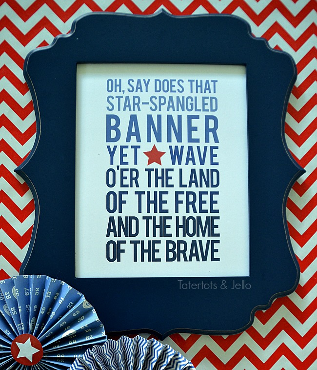 star spangled printable at tatertots and jello