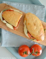 Baked Roasted Pepper Caprese Sandwiches Recipe!