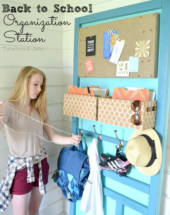 back to school organization DIY at tatertots and jello