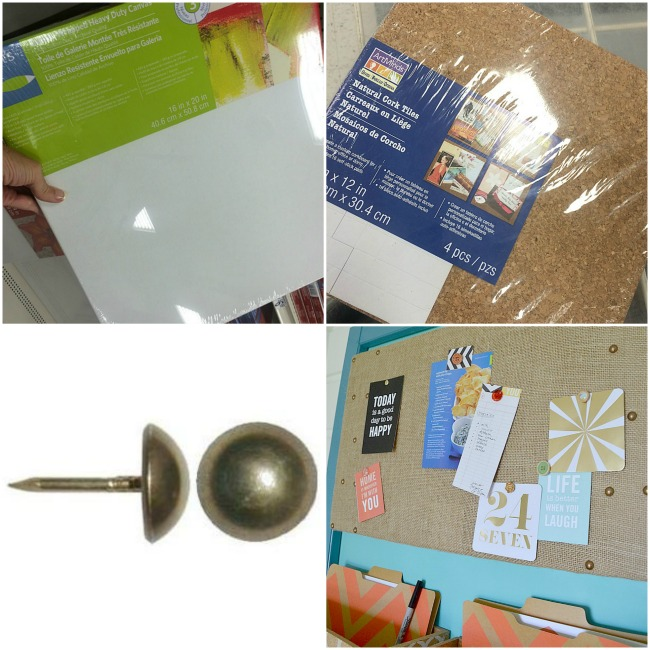 how to make a burlap corkboard