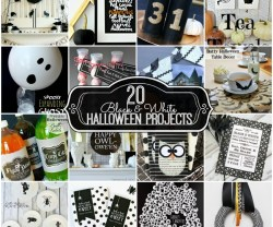 20 black and white halloween projects at tatertots and jello
