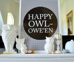 Happy Owleen free printable at tatertots and jello