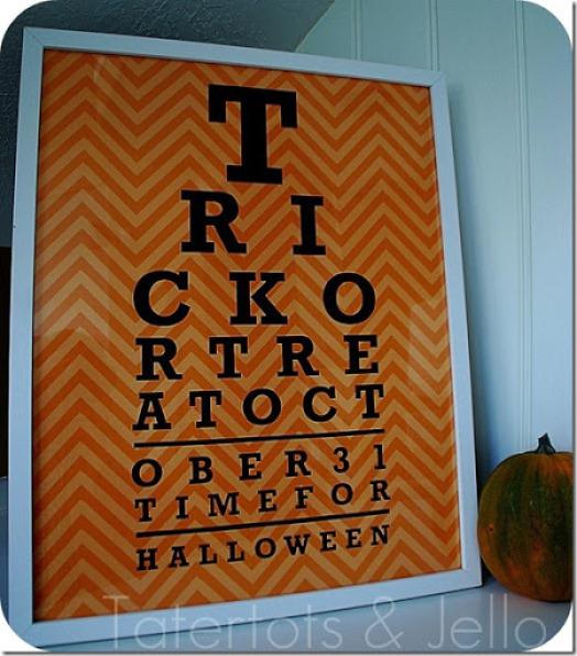 halloween eye chart printable