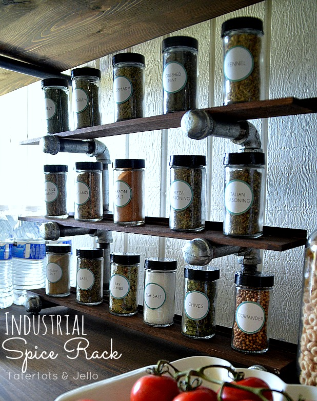 industrial spice rack project at tatertots and jello