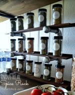 Make an Easy Industrial Spice Rack! #LowesCreator