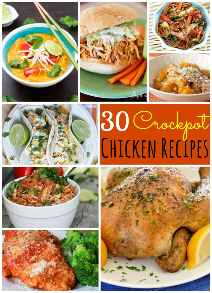 30 AMAZING Chicken Recipes for Your Crockpot!!
