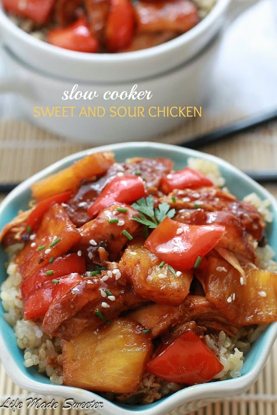 Slow Cooker Sweet and Sour Chicken by Life Made Sweeter