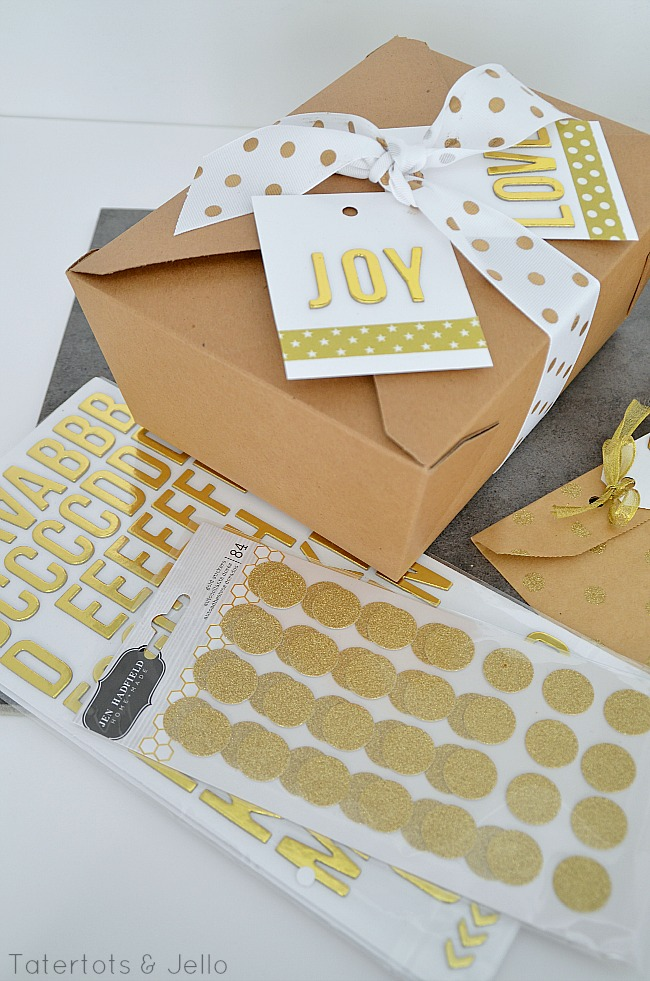 gold sparkle gift ideas at tatertots and jello
