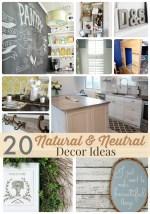 Great Ideas — 20 Natural & Neutral Decor Ideas!