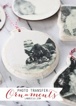 HAPPY Holidays: Photo Transfer Ornaments