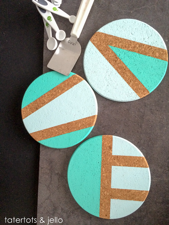 Easy Color Blocked Coaster Trivet Diy Gift Idea