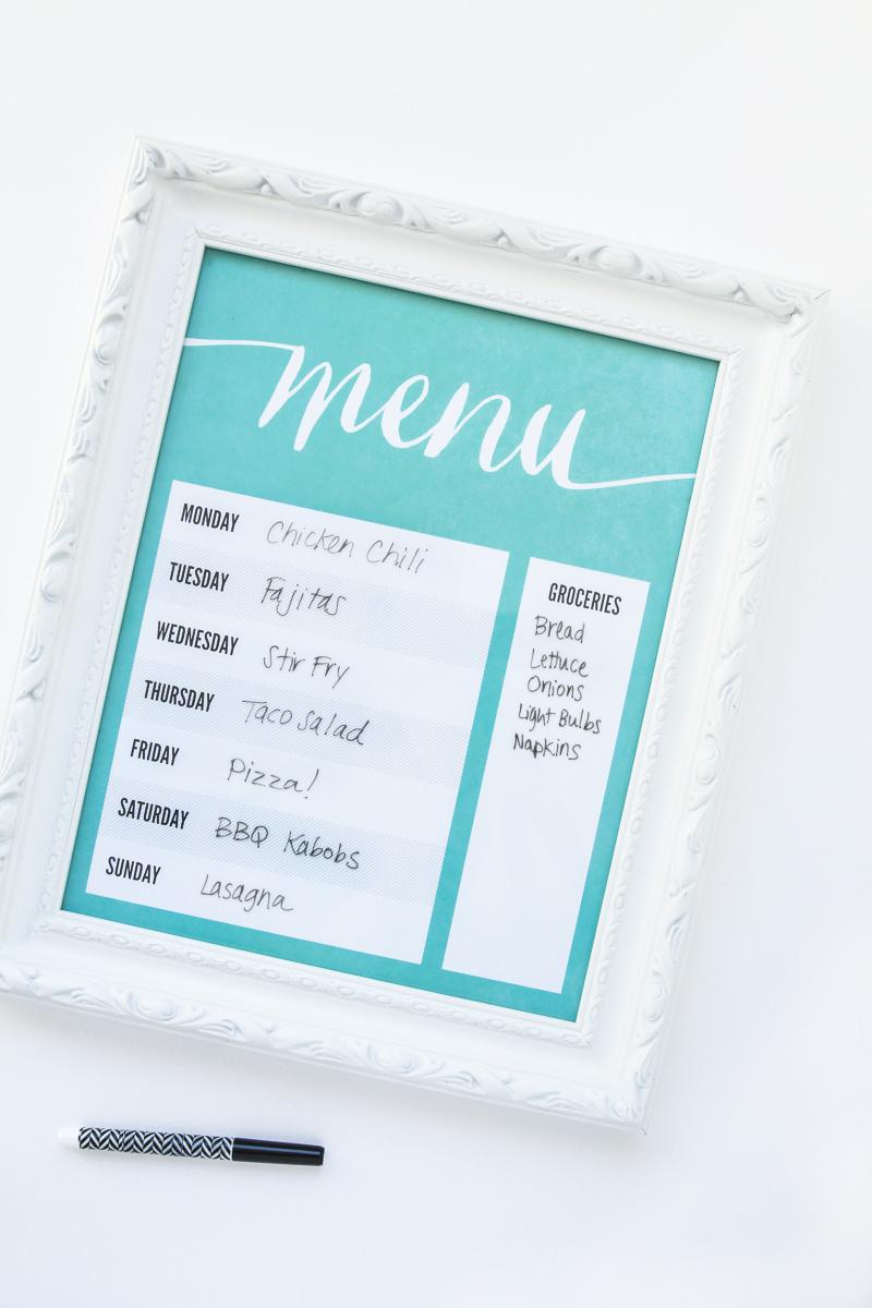 Make-A-Dry-Erase-Menu-Board