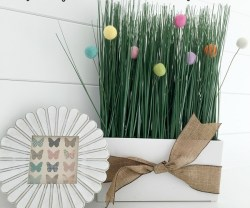 felt ball grass centerpiece