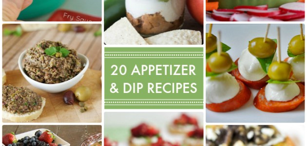 20 Appetizer and Dip Recipes