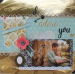 I Adore You Scrapbook Layout