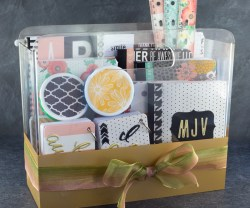 DIY College School Supplies Gift Basket